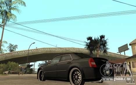 Chrysler 300C DUB pour GTA San Andreas sur la vue arrière gauche