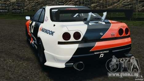 Nissan Skyline GT-R (R33) v1.0 pour GTA 4 Vue arrière de la gauche