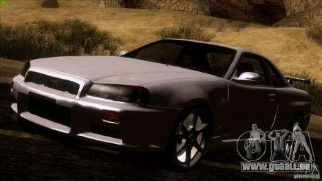 Nissan Skyline R34 Drift für GTA San Andreas linke Ansicht