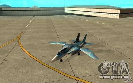F-14 Tomcat Blue Camo Skin pour GTA San Andreas laissé vue