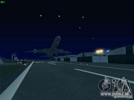 Airbus A340-600 Singapore Airlines pour GTA San Andreas vue intérieure