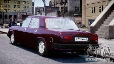 GAZ Volga 3110 pour GTA 4 Vue arrière de la gauche
