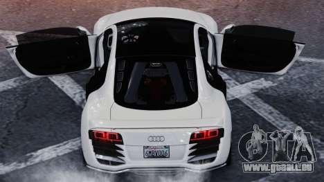 Audi R8 LeMans pour GTA 4 Vue arrière de la gauche