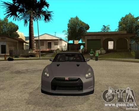 2008 Nissan GTR R35 pour GTA San Andreas vue arrière