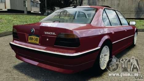 BMW 750iL E38 1998 pour GTA 4 Vue arrière de la gauche