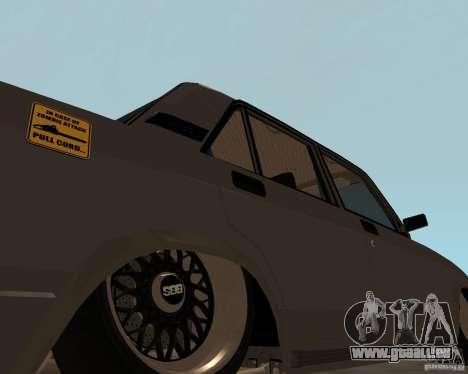 VAZ 2107 JDM pour GTA San Andreas sur la vue arrière gauche