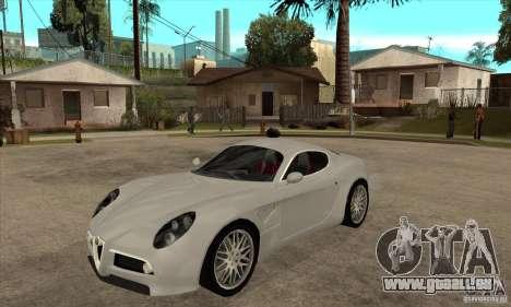Alfa Romeo 8 c Competizione stock pour GTA San Andreas laissé vue