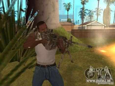 Mitrailleuse MK-48 pour GTA San Andreas quatrième écran