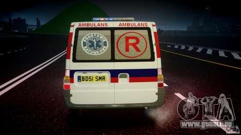 Ford Transit Polish Ambulance [ELS] pour GTA 4 Salon