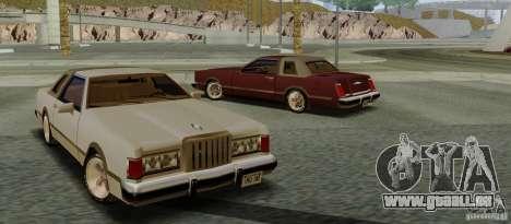 Virgo Continental pour GTA San Andreas sur la vue arrière gauche