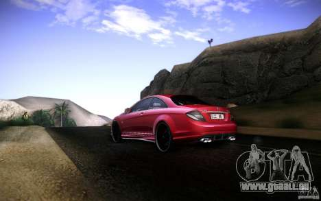 Mercedes Benz CL65 AMG pour GTA San Andreas vue de droite