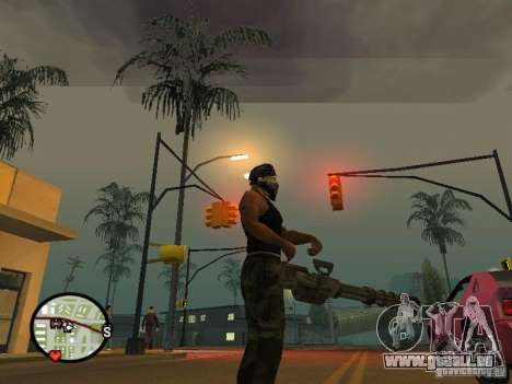 M134 Minigun de CoD : Mw2 pour GTA San Andreas cinquième écran