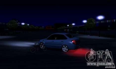 Lada Granta Light Tuning pour GTA San Andreas vue intérieure
