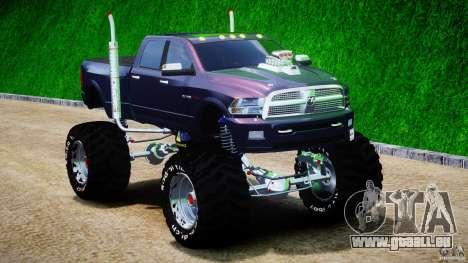 Dodge Ram 3500 2010 Monster Bigfut für GTA 4 Rückansicht