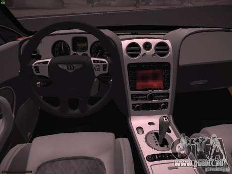 Bentley Continetal SS Dubai Gold Edition für GTA San Andreas Rückansicht