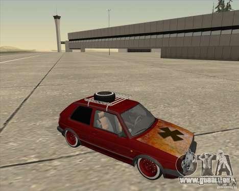 VW Golf II Shadow Crew pour GTA San Andreas vue arrière