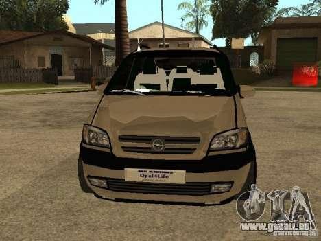Opel Zafira für GTA San Andreas Seitenansicht