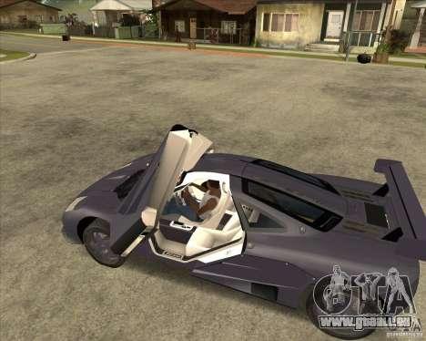 McLaren F1 pour GTA San Andreas laissé vue