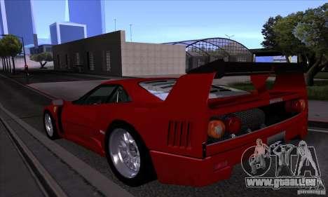 Ferrari F40 GTE LM für GTA San Andreas obere Ansicht