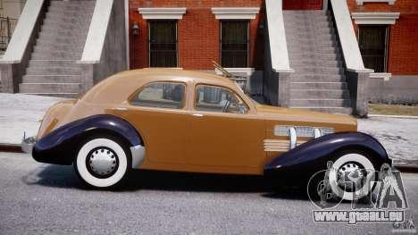 Cord 812 Charged Beverly Sedan 1937 pour GTA 4 est une vue de l'intérieur