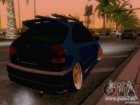 Honda Civic JDM Hatch für GTA San Andreas zurück linke Ansicht