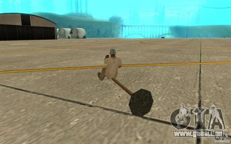 Flying Broom pour GTA San Andreas vue de droite