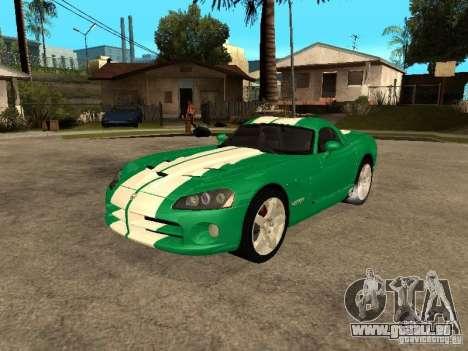 Dodge Viper Coupe 2008 für GTA San Andreas obere Ansicht