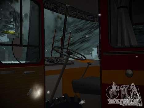 LAZ 699N pour GTA San Andreas vue intérieure