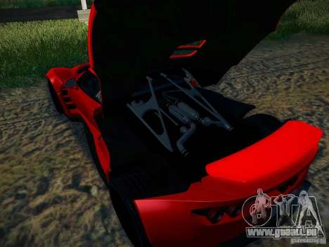 Hennessey Venom GT Spyder pour GTA San Andreas vue intérieure