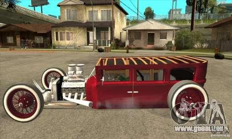 HotRod sedan 1920s no extra pour GTA San Andreas laissé vue