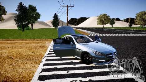 Mercedes-Benz SLK 2012 pour GTA 4 est une vue de dessous
