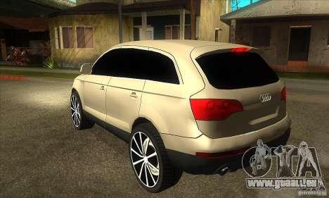 Audi Q7 v2.0 für GTA San Andreas zurück linke Ansicht