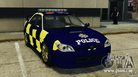 Subaru Impreza British ANPR [ELS] für GTA 4