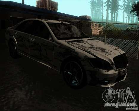 Mercedes-Benz S65 AMG W221 für GTA San Andreas Innenansicht