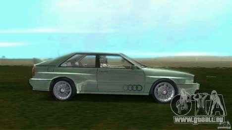 Audi Quattro pour une vue GTA Vice City de la gauche
