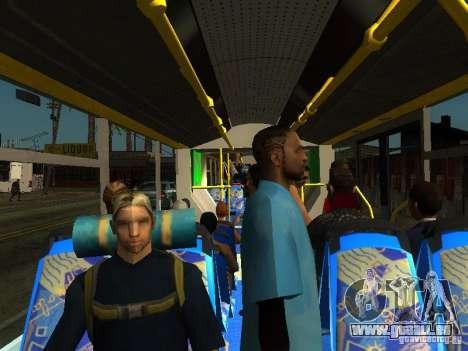 Trolleybus LAZ E301 für GTA San Andreas obere Ansicht