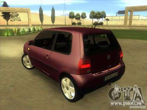 Volkswagen Lupo pour GTA San Andreas sur la vue arrière gauche