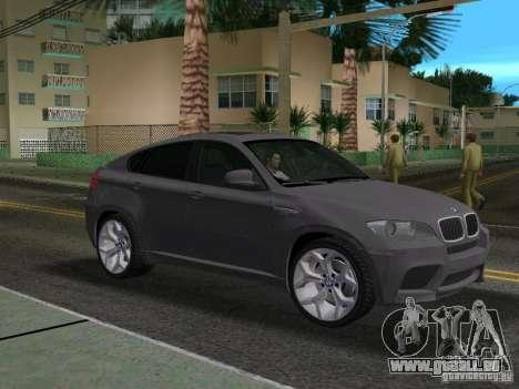 BMW X6M pour GTA Vice City sur la vue arrière gauche