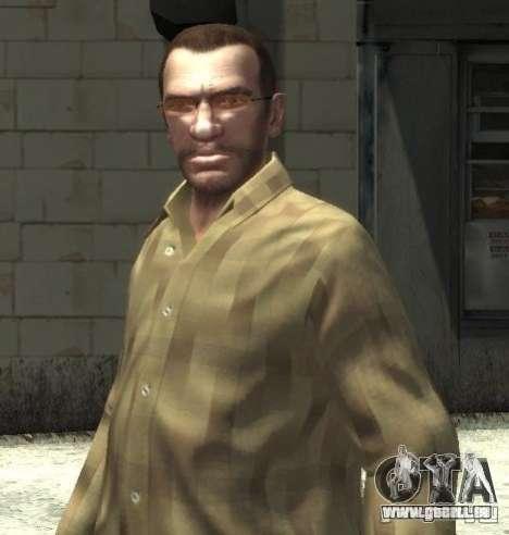 Nouvelles lunettes pour Niko-pink pour GTA 4