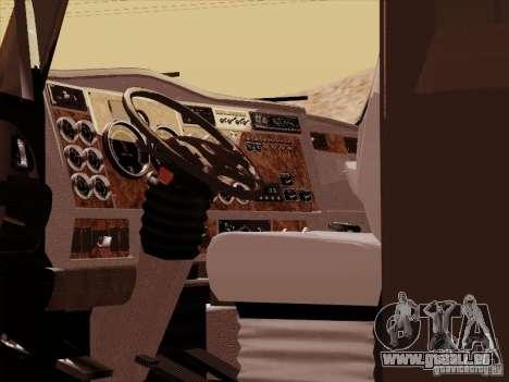 Kenworth T2000 pour GTA San Andreas vue intérieure