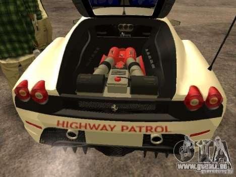 Ferrari Scuderia Indonesian Police pour GTA San Andreas vue intérieure