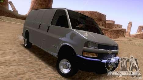 Chevrolet Savana 3500 Cargo Van für GTA San Andreas