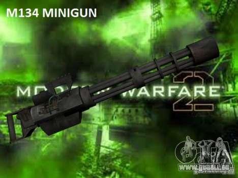M134 Minigun aus CoD: Mw2 für GTA San Andreas