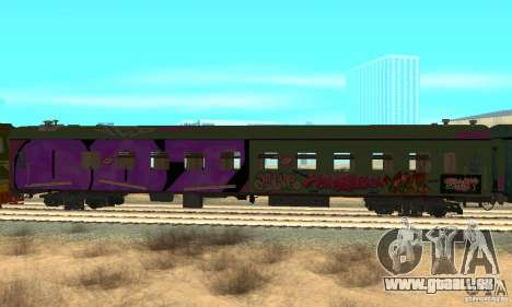 Custom Graffiti Train 2 pour GTA San Andreas vue de droite