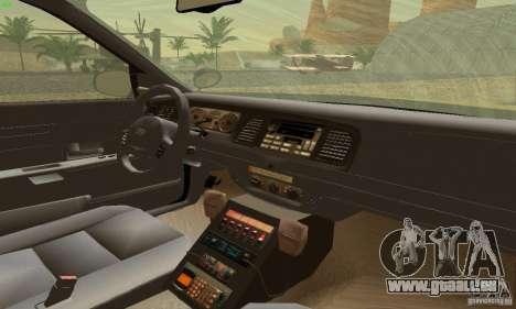 Ford Crown Victoria Maryland Police für GTA San Andreas zurück linke Ansicht
