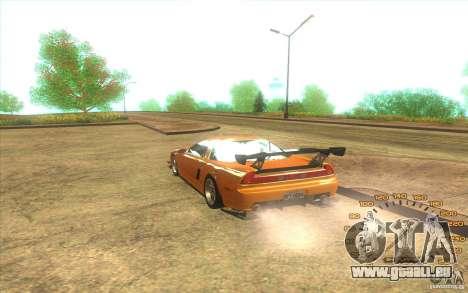 Honda NSX J2HIN pour GTA San Andreas sur la vue arrière gauche