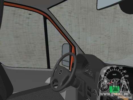 Mercedes-Benz Sprinter 518 MAXI 2007 pour GTA San Andreas vue intérieure