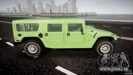 Hummer H1 pour GTA 4 vue de dessus