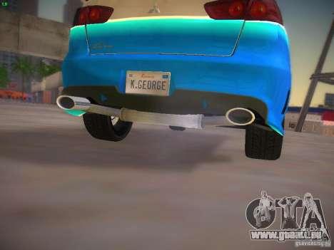 Mitsubishi Lancer Evo X Tunable pour GTA San Andreas vue de dessous