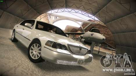 Lincoln Towncar 2010 für GTA San Andreas Rückansicht